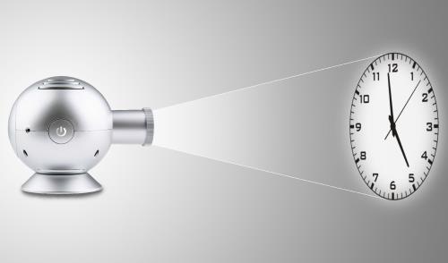 Balance 396255 Projectie klok zilver