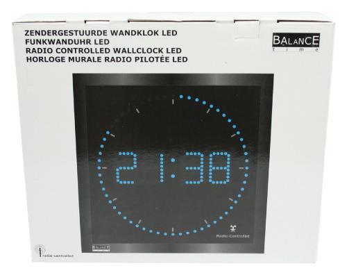 Balance 456434 Aluminium LED wandklok