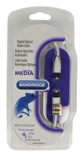 Bandridge BBM25000W10 Toslink digitale optische audiokabel 1,00 m