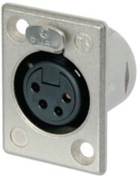 Neutrik  XLR Panel-mount female receptacle <prefix></prefix>4<suffix></suffix> Panel-mount female receptacle P soldee...