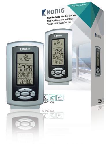 KN-WS100N Thermo hygrometer weerstation