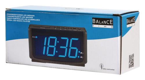 Balance 112424 LED-wekker zendergestuurd