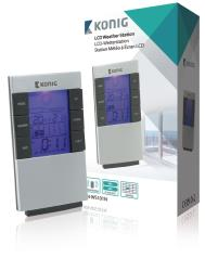 König KN-WS101N LCD-klok en weerstation