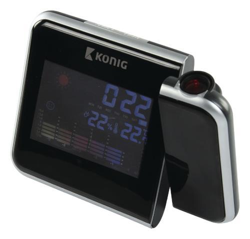 KN-WS103N LCD-projectieklok met weersvoorspelling