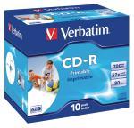Verbatim CDRVER00024B CD-R AZO Wide Inkjet Printable