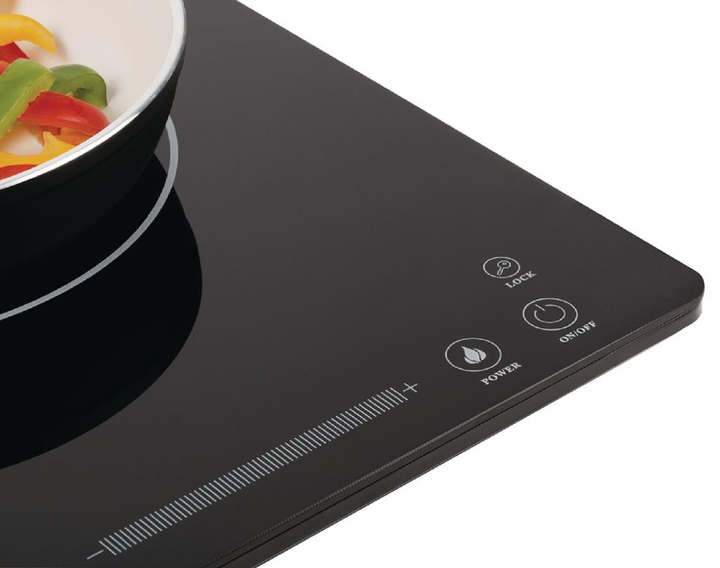 Keramische Kookplaat Aanraakbediening : König kn induc inductiekookplaat slim line w met