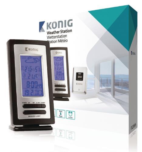 KN-WS205 Weerstation met draadloze buitensensor en hygrometer