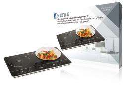 König KN-INDUC-30 Slim-Line dubbele inductiekookplaat touch-bediening 3500 W