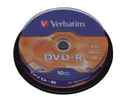 Verbatim 43523 DVD-R Matt Silver