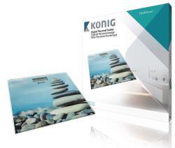 König HC-PS14 Digitale personenweegschaal ultraplat capaciteit 150 kg