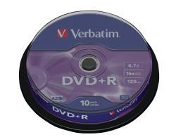Verbatim 43498 DVD+R Matt Silver