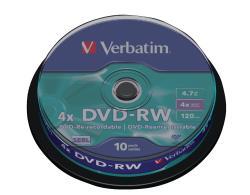 Verbatim 43552 10x DVD-RW 4.7 GB