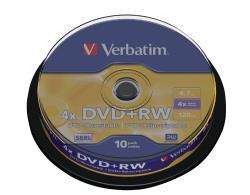 Verbatim 43488 DVD+RW Matt Silver