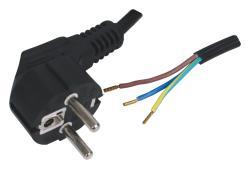 Fixapart EL-POWER202 Netsnoer met aangegoten stekker 1,80 m zwart
