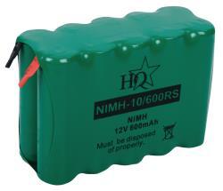 HQ NIMH-10/600RS Batterijpack NiMH 12 V 600 mAh