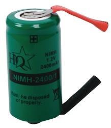 HQ NIMH-2400/1 Batterijpack NiMH 1.2 V 2400 mAh