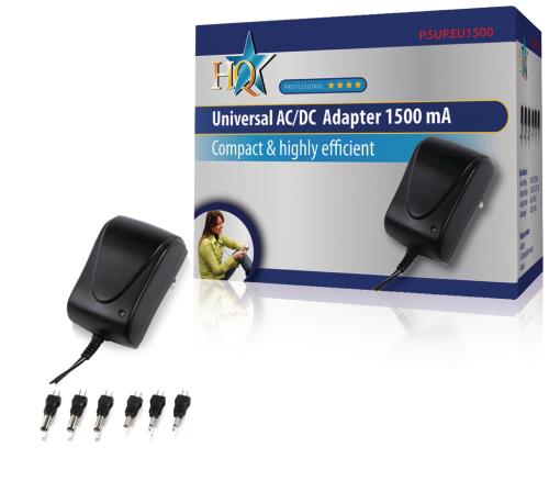 P.SUP.EU1500 Universele AC/DC adapter 1500 mAh