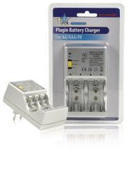 HQ HQ-CHARGER07 Plug-in batterijlader voor het laden van AA/AAA/9 V blokbatterijen