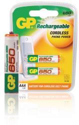 GP 12065AAAHCC2 Ni-MH oplaadbare AAA micro penlite 1.2 V 650 mAh 2-blister