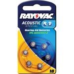 Rayovac 4610.945.416 Hoortoestelbatterijen HA10 6-blister