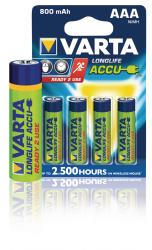 Varta 56703.101.404 Batterij NiMH AAA/LR03 1.2 V 800 mAh R2U 4-blister