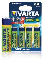 Varta 56706.101.404 Batterij NiMH AA/LR6 1.2 V 2100 mAh R2U 4-blister