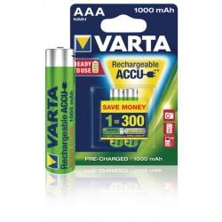 Varta 5703.301.402 Batterij NiMH AAA/LR03 1.2 V 1000 mAh R2U 2-blister