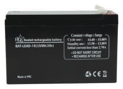 HQ BAT-LEAD-10 Loodaccu 12 V 9 Ah