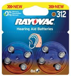 Rayovac 4607.745.418 Hoortoestelbatterijen HA312 8-blister