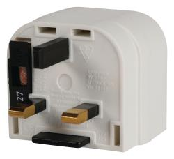 Valueline UK-PLUG12 Euro adapter naar UK stekker wit