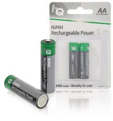 HQ HQHR6-1300/2B Oplaadbare NiMH AA-batterij 1300 mAh, blister 2 stuks
