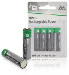 HQ HQHR6-1300/4B Oplaadbare NiMH AA-batterij 1300 mAh, blister 4 stuks