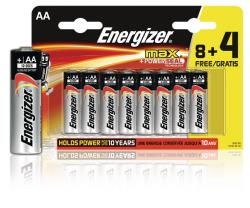 Energizer E300115600 Max alkaline AA/LR6 8+4 Free