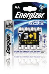 Energizer 639157 Ultimate lithium battery AA/FR6 1.5 V 3 + 1 free blister