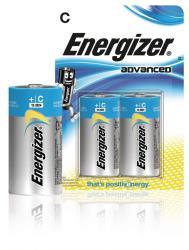 Energizer 53541043300 Advanced alkaline C/LR14 2-blister