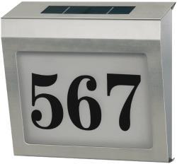 Brennenstuhl 1179810 RVS verlicht huisnummer op zonne-energie