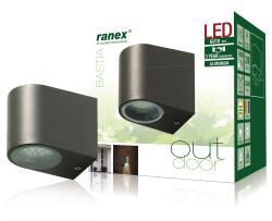 Ranex 5000.332 LED buitenwandlamp van roestvrijstaal