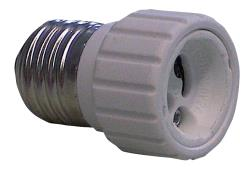 HQ EL-E27GU10 Lamp holder adapter GU10 to E27