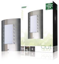 Ranex 5000.087 Muurlamp met dag/nacht sensor E27 IP44