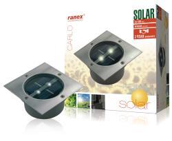 Ranex 5000.198 LED-grondspot op zonne-energie, vierkant