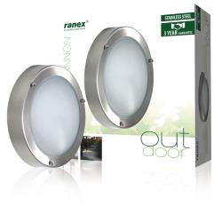 Ranex 5000.321 Wandlamp, roestvrij staal, rond