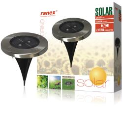 Ranex 5000.389 LED-grondspot op zonne-energie, rond