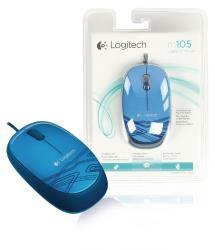 Logitech 910-003105 Blauwe M105 muis