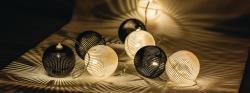HQ HQLEDSLPBALL Lichtslinger zwart en wit bal 10 LED