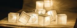 HQ HQLEDSLSQRCOT Lichtslinger kubus katoen 10 LED