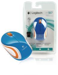 Logitech 910-002733 Blauwe M187 draadloze mini muis