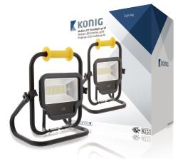 König KNLEDFLST50W LED bouwlamp draagbaar 50 W 4000 lm klasse ll