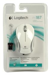 Logitech 910-002735 Witte M187 draadloze mini muis