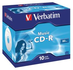 Verbatim 43365 Music CD-R 80 min Jewel Case 10 stuks