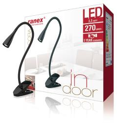 Ranex 6000.636 Ranex LED BUREAULAMP 6led 3,5W zwart